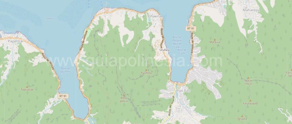 Bahía de Opunohu y Bahía de Cook