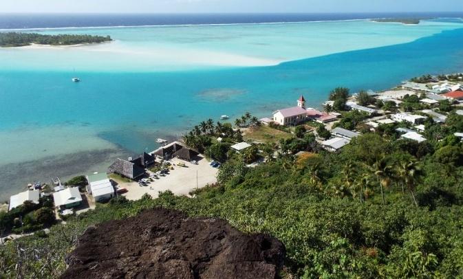 Ciudad de Vaiea en Maupiti