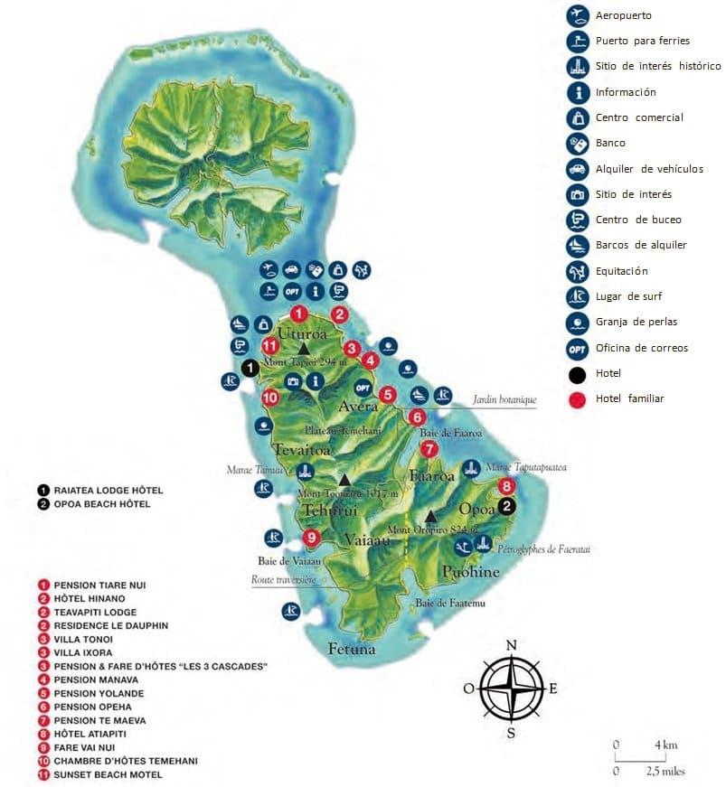 Mapa de Raiatea