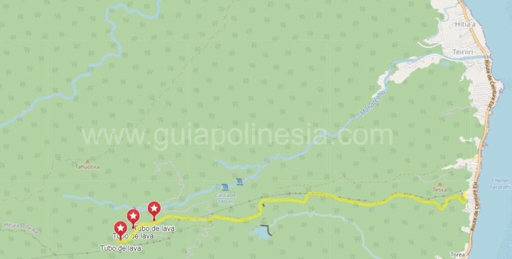 Ruta Tubos de lava de Hitiaa