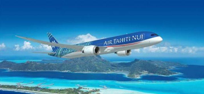 avión de air tahiti volando