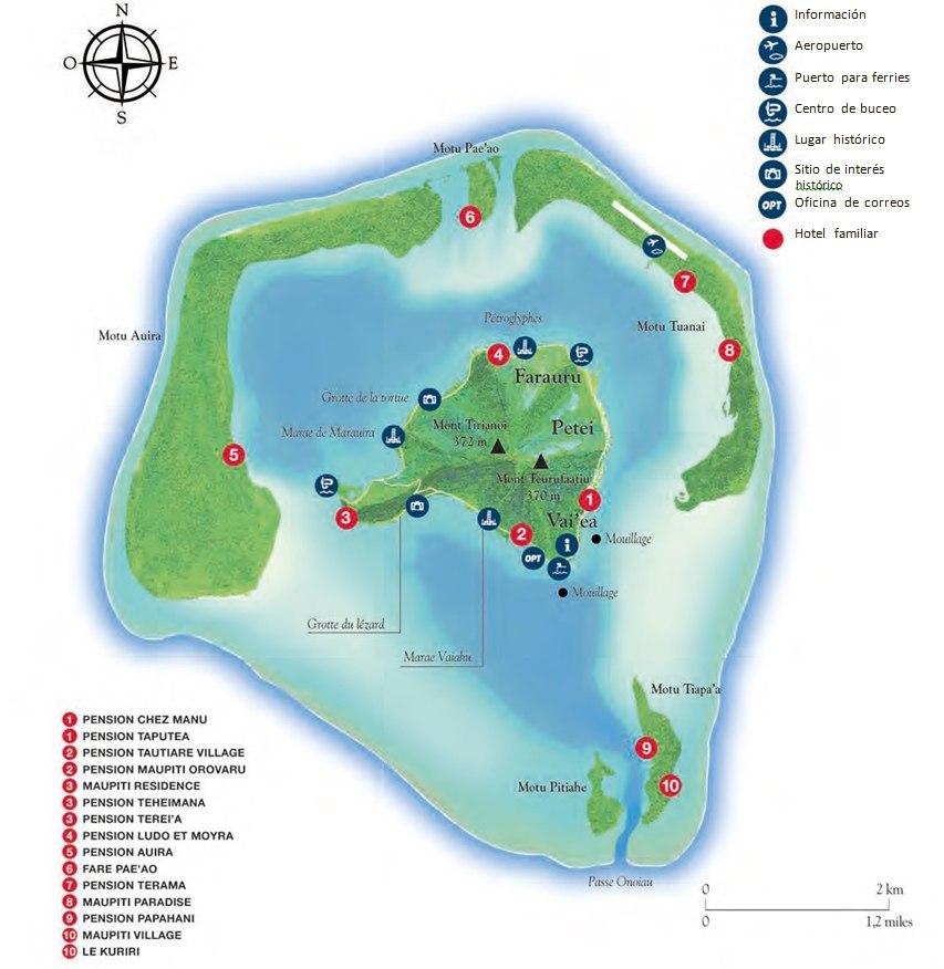 mapa de Maupiti