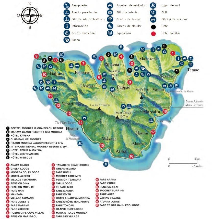 mapa de moorea