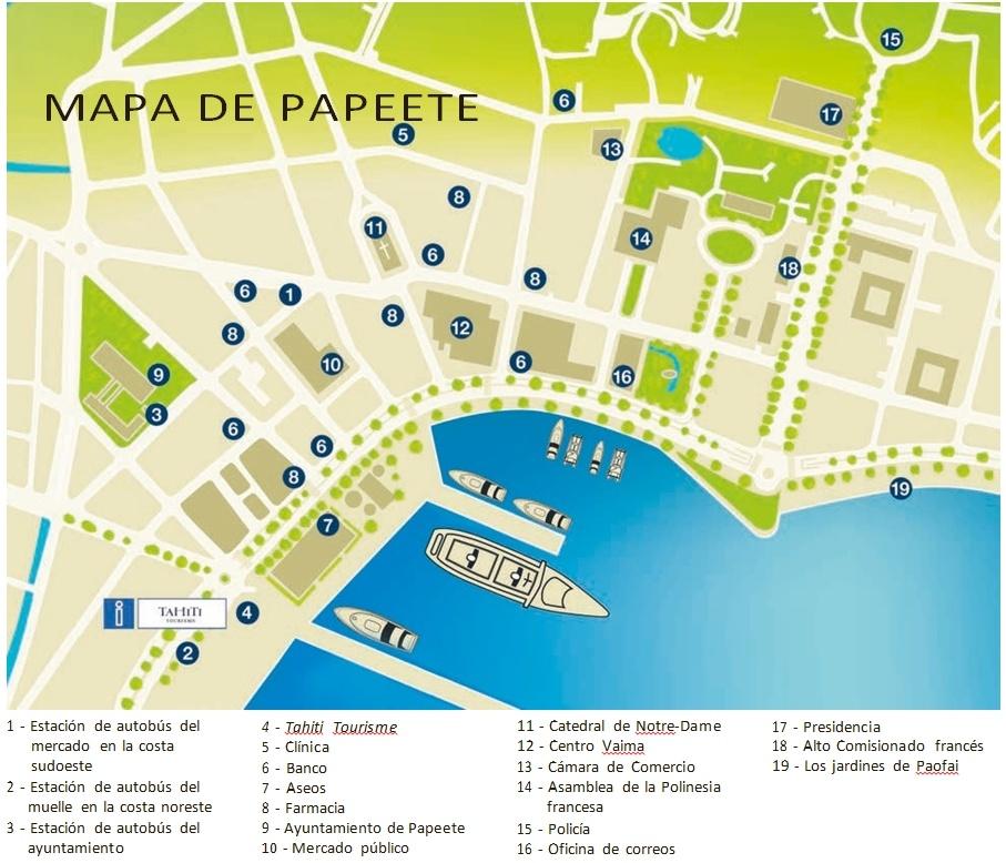 mapa de papeete