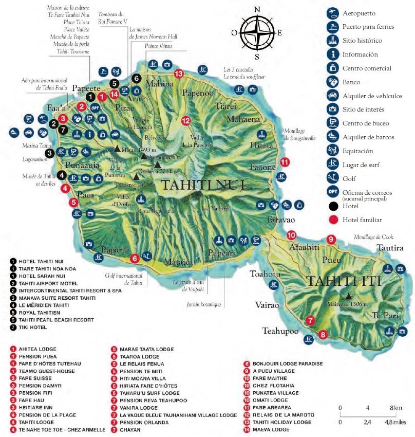 mapa de tahití